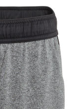 Knee-length sports shorts - Black marl - Men | H&M 3