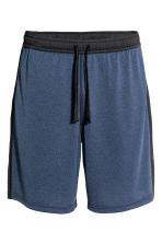 Knee-length sports shorts - Blue marl - Men | H&M CN 2