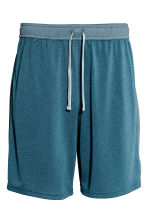 Knee-length sports shorts - Grey-blue marl - Men | H&M CN 2