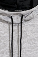 Sleeveless hooded top - Grey marl - Men | H&M CN 3