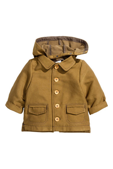 Jacket with a hood - Khaki - Kids | H&M 1