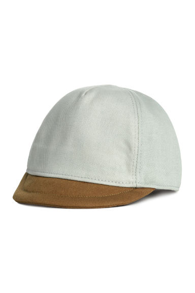 Cap with a soft peak - Mint green - Kids | H&M CN 1