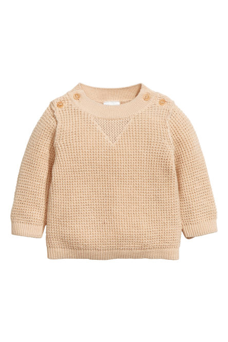 Knitted cotton jumper