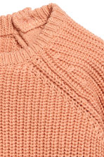 Rib-knit cotton jumper - Apricot - Kids | H&M 4