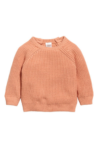 Rib-knit cotton jumper - Apricot - Kids | H&M CN 1