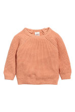 Rib-knit cotton jumper - Apricot - Kids | H&M 1