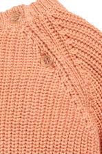 Rib-knit cotton jumper - Apricot - Kids | H&M 3