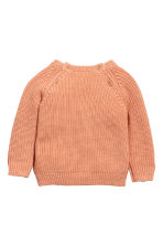 Rib-knit cotton jumper - Apricot - Kids | H&M CN 2