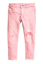 Skinny Fit Worn Jeans - Washed-out pink - Kids | H&M IE 2