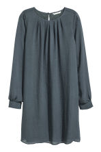 Chiffon dress - Dark grey - Ladies | H&M CN 2