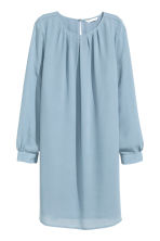 Chiffon dress - Light blue - Ladies | H&M CN 2