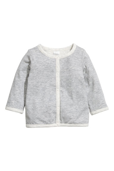Pima cotton cardigan - Grey marl - Kids | H&M CN 1