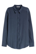 Silk blouse - Dark blue - Ladies | H&M 2