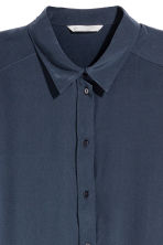 Silk blouse - Dark blue - Ladies | H&M CN 3