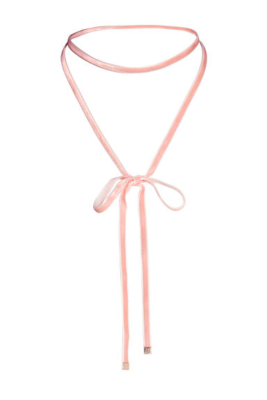 Velvet choker - Powder pink - Ladies | H&M 1