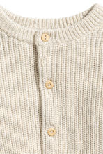 Rib-knit cotton cardigan - Light beige - Kids | H&M 2