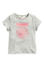 Patterned top - Grey/Ramones - Kids | H&M 2