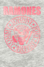 Patterned top - Grey/Ramones - Kids | H&M 3