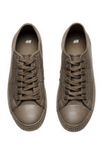 Cotton canvas trainers - Dark mole - Men | H&M 3