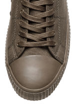 Cotton canvas trainers - Dark mole - Men | H&M CN 4