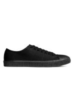 Cotton canvas trainers - Black - Men | H&M 2