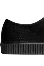 Cotton canvas trainers - Black - Men | H&M 5