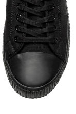 Cotton canvas trainers - Black - Men | H&M 4
