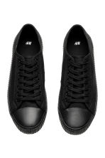 Cotton canvas trainers - Black - Men | H&M 3