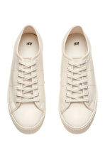 Cotton canvas trainers - Light beige - Men | H&M 2