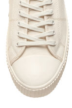 Cotton canvas trainers - Light beige - Men | H&M 3
