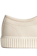 Cotton canvas trainers - Light beige - Men | H&M 4