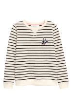 Sweatshirt - Natural white/Striped - Kids | H&M CN 2