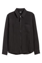 Zipped shirt jacket - Black - Men | H&M 2