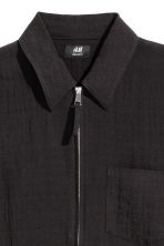 Zipped shirt jacket - Black - Men | H&M 3