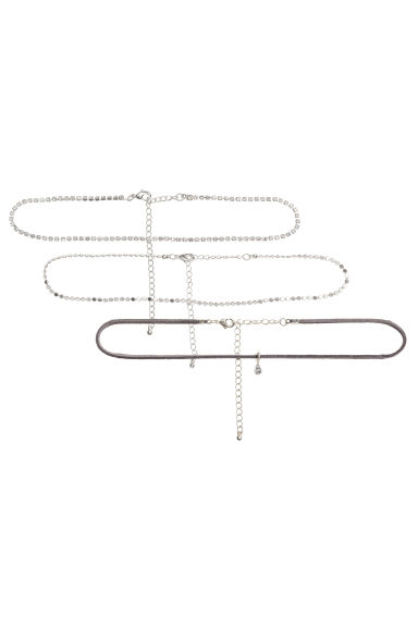 3-pack chokers - Silver - Ladies | H&M CN 1