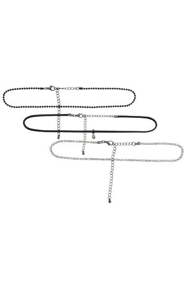 3-pack chokers - Black - Ladies | H&M