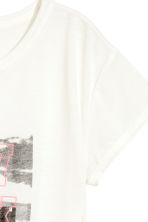 Short-sleeved printed top - White/New York -  | H&M 3