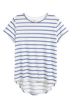 短袖平紋上衣 - White/Blue striped - Kids | H&M 2