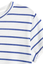 短袖平紋上衣 - White/Blue striped - Kids | H&M 3
