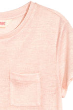 Short-sleeved jersey top - Powder pink/Glittery - Kids | H&M CN 3