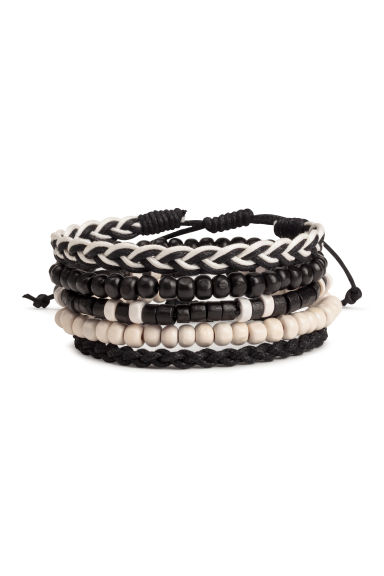 5-pack bracelets - Black/White - Men | H&M CN 1