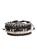 5-pack bracelets - Black/White - Men | H&M 1