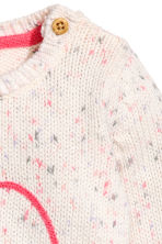 Knitted cotton jumper - White/Heart -  | H&M 2