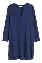 Crêpe dress - Dark blue - Ladies | H&M CN 2