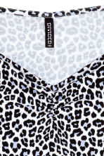 Jersey top - White/Leopard print - Ladies | H&M CN 3