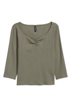 Jersey top - Khaki green - Ladies | H&M 2