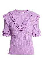 Textured-knit jumper - Purple marl - Ladies | H&M 2