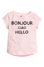 Top in jersey con stampa - Rosa chiaro -  | H&M IT 2