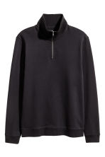 Sweatshirt with a collar - Black -  | H&M 2