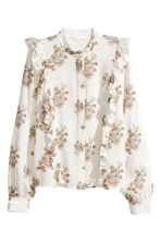 Patterned blouse - White/Floral - Ladies | H&M CN 2